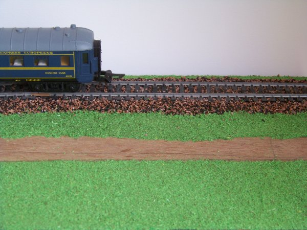 Pause du flocage sur mon petit diorama .Qu'en pensez vous?