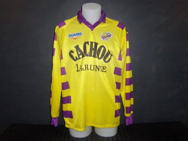 Maillot porté par Jean Philippe Delpech  lors de la saison 1991/1992 match extérieur