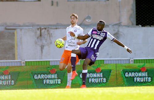 Photo de Doumbia lors du match TFC/MHSC du 12/04/2015