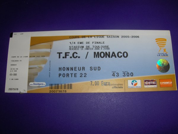 Photo du match TFC ASM du 18/01/2006 CDL
