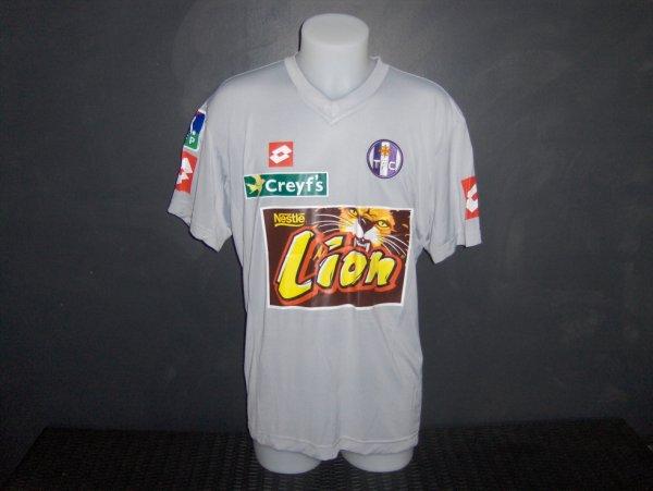 Maillot préparé pour Nabil Taïder coupe de la ligue 2003/2004