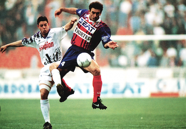 Photo de Bancarel lors de la saison 1993/1994 face au PSG