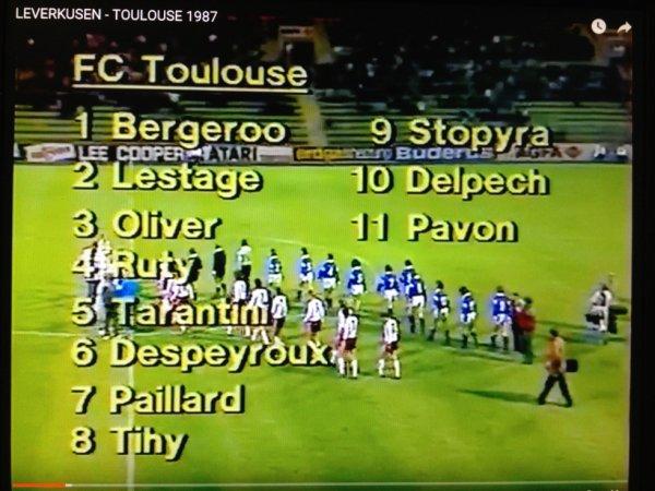 Composition de l'équipe du TFC lors du match Bayer Leverkusen/TFC