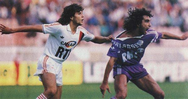 Photo de Dominique Rocheteau lors du match PSG/TFC du 01/08/1987