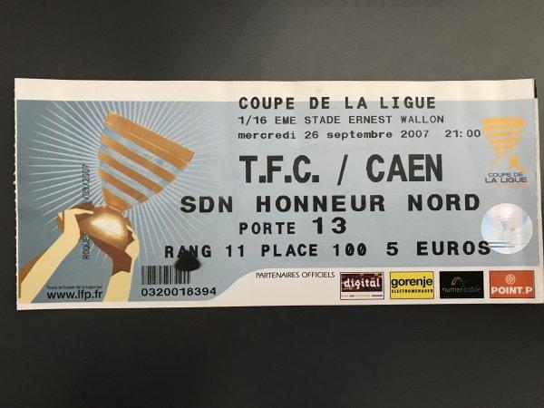 Autres photos du match TFC CAEN du 26/09/2007 et le billet du match