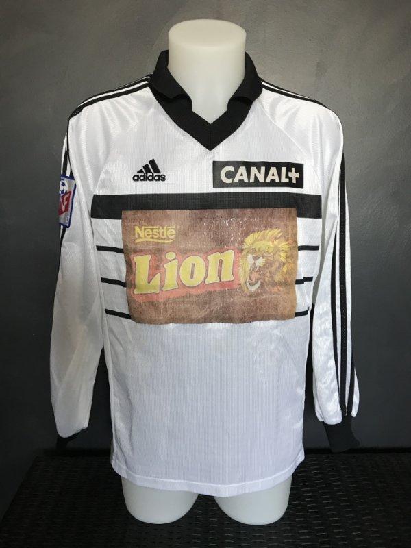 Maillot porté par Aboubacar Sankharé lors du quart de finale de CDL METZ TFC du 03/02/1999