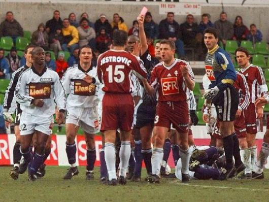 Photo du match METZ TFC 1/4 de finale CDL du 03/02/1999.