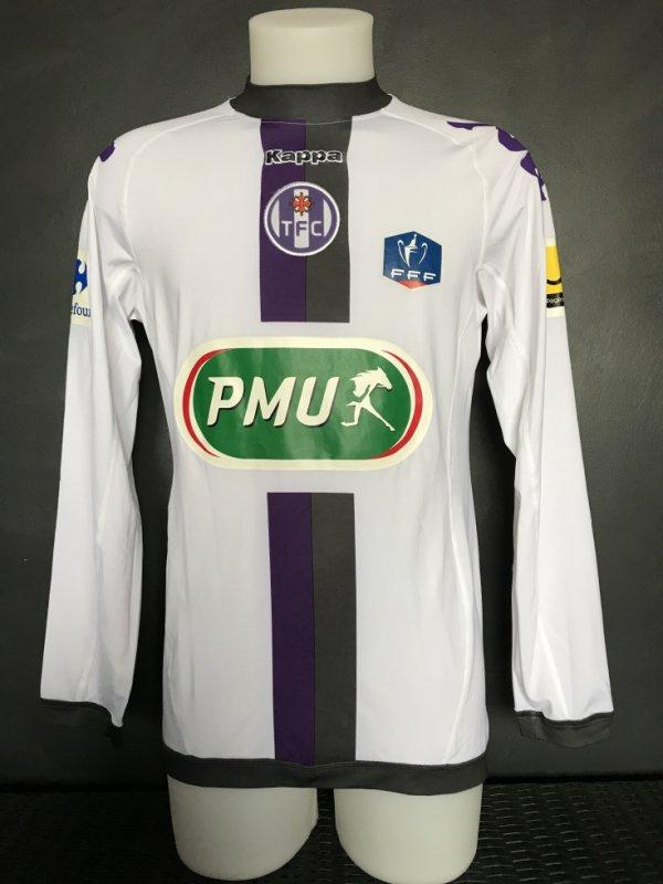 Maillot porté par Paulo Machado le 08/01/2012 lors du match GFCO AJACCIO TFC