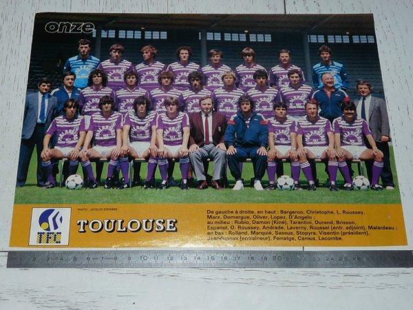 Poster de l'équipe du TFC saison 1984/1985