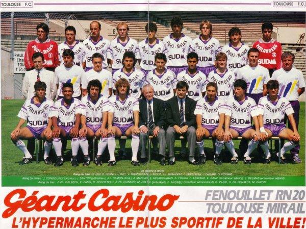 Photo de l'équipe du TFC durant la saison 1988/1989
