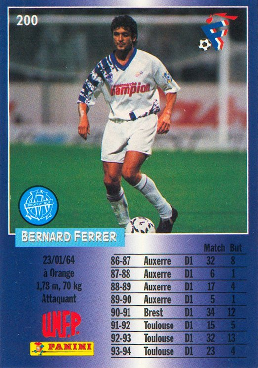 Photo de Bernard Ferrer saison 1993/1994