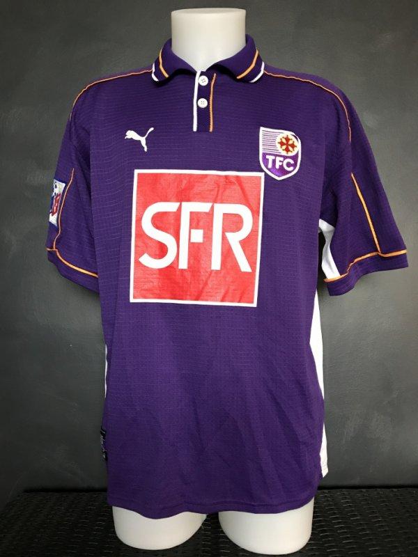 Maillot porté par HOALID REGRAGUI lors du match TFC Lens du 08/01/2000 16ieme de fianle de la coupe de la ligue (3 à 2)