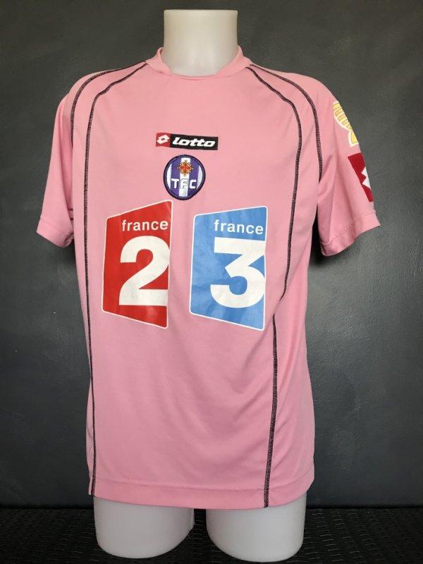 Maillot porté par Jeremy Mathieu le 19 septembre 2006 lors du match Nantes Toulouse en 16ieme de CDL (0-2)