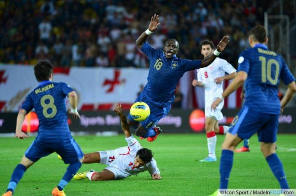 Photo de Moussa Sissoko lors du match Georgie France du 06/09/2013