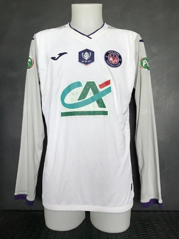Maillot porté par Efthymios Koulouris lors du match de coupe de France Saint Pryvé Saint Hilaire TFC (1 à 0)