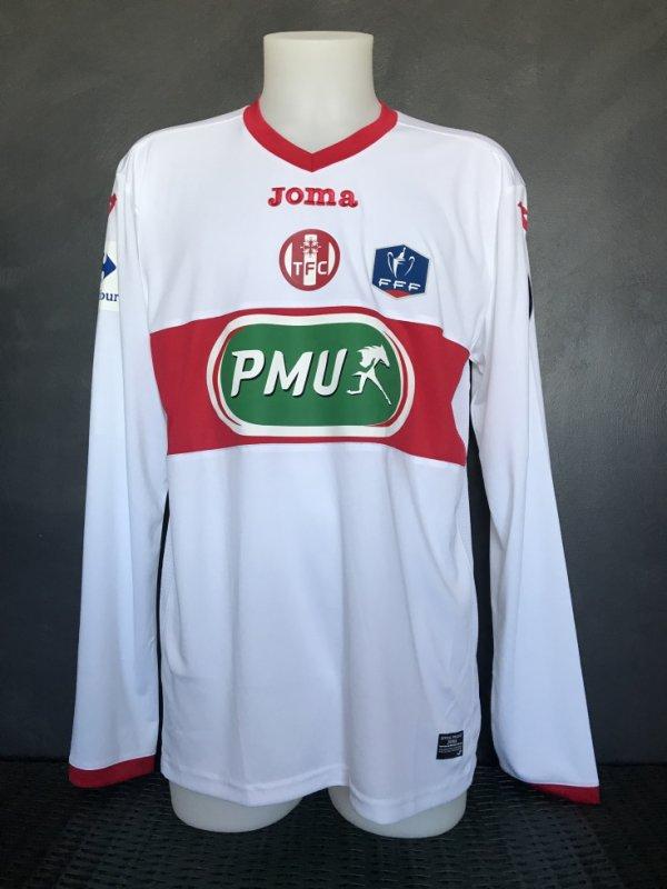 Maillot préparé pour Issa DIOP pour le 16ieme de finale Bourg Peronnas TFC du 23/01/2018