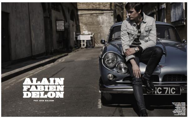 John Balsom shot Alain Fabien Delon pour Lui issue 17.
