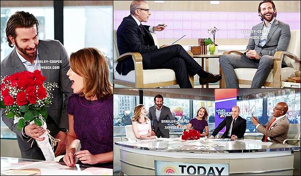 """Bradley était prèsent au """"The Today Show"""" le 13 mai 2013 ! + Découvrez la vidéo ! Bradley a toujours sa coupe de cheveux qu'on n'aime pas ! Mais bon même avec sa coupe horrible, il reste toujours sexy ! Alors ?"""