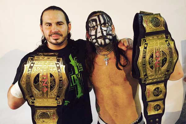 TNA World Tag Team Champion The Hardys (Jeff & Matt Hardy)
