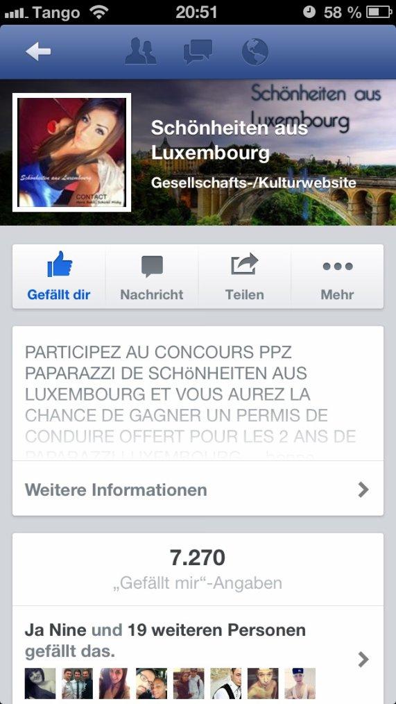 Bitte Like. :) !! Ich habe es geschafft schönheiten aus Luxembourg !!!!