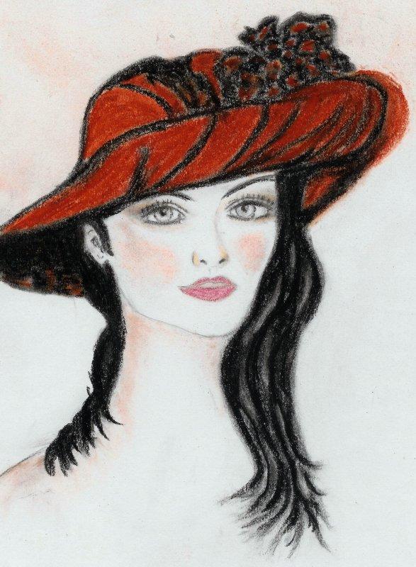 encore une dame au chapeau!!