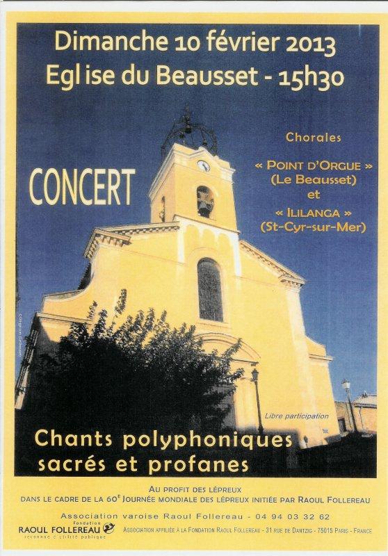 notre concert de chorale de ce dimanche