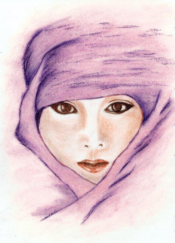 portrait : jeune femme musulmanne