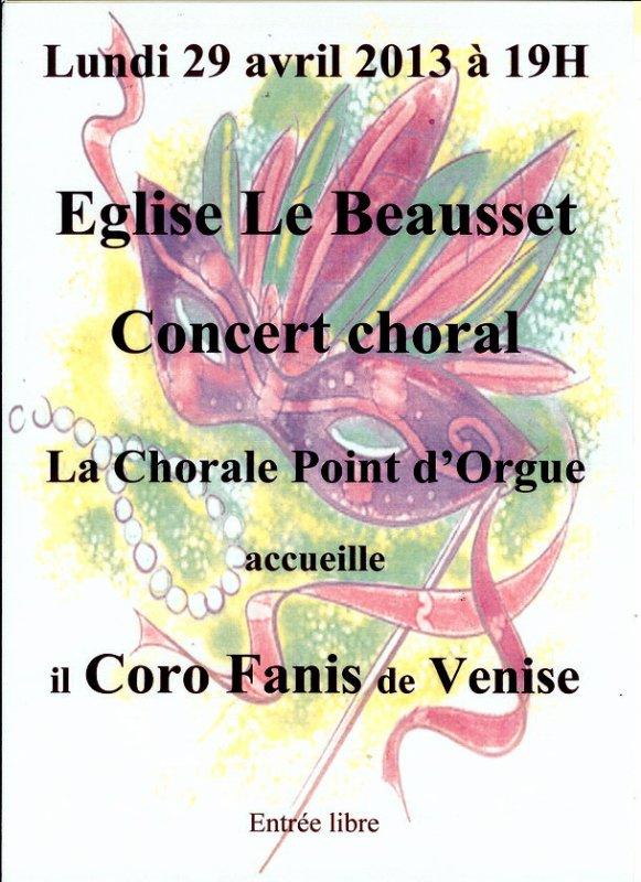 concert de notre chorale