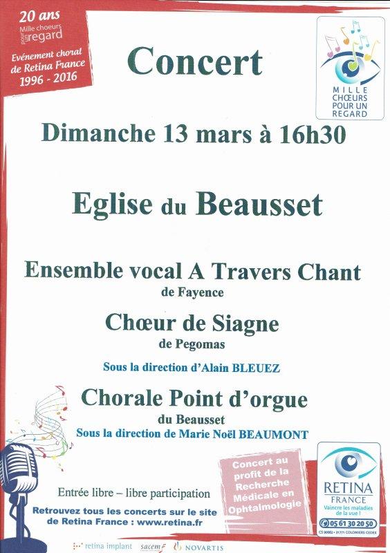 concert chorale du wk prochain