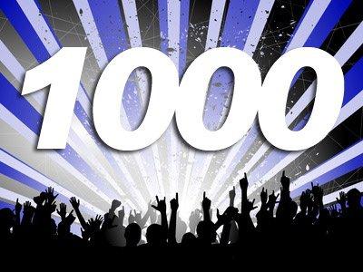 1 000 fans