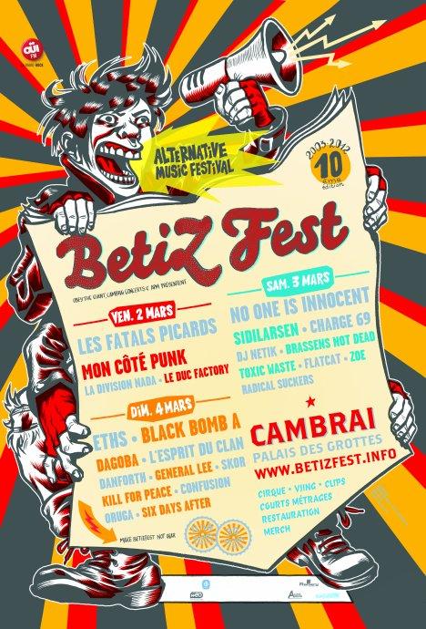Live le 4 mars au BetiZFest 2012 ! (Cambrai)