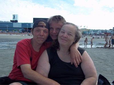 Moi Alain et Arnaud à la mer c'était super génial