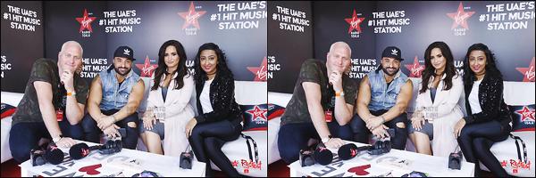 . 04.02.17 —  Miss Demi Lovato donnait une performance sur la scène du « RedFest DXB » dans la ville de Dubaï !  De plus, elle a été dans les studios de Virgin Radio. Je n'aime pas trop sa tenue de scène ! Demi porte un body .. Du déjà vue, dommage. .