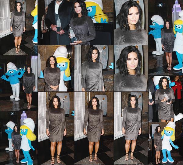 -  20.03.17 —  Demi Lovato était présente à l'Empire State Building pour la promos du film à - NY .
