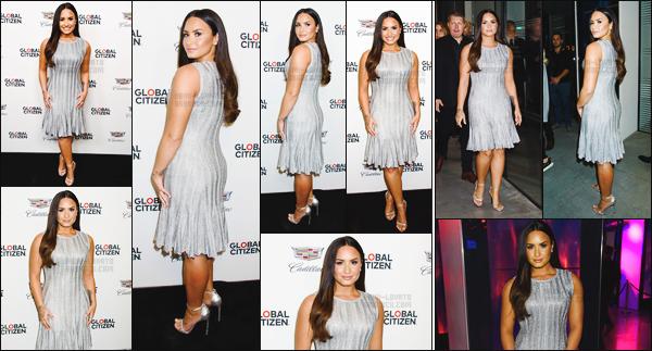 - - 21.09.2017- : Demi Lovato posait sur le tapis de l'événement « Global Citizen and Cadillac House Fallon » à New-York !    Demi est désormais la nouvelle ambassadrice des maladies mentales pour Global Citizen ! Quel générosité. J'aime les deux tenues, elle est magnifique.  -