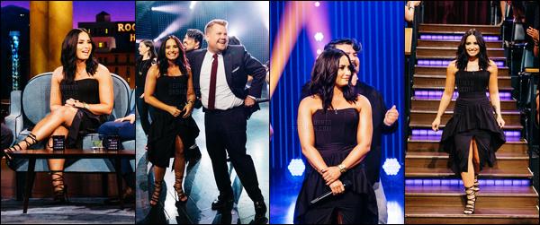 . 05.04.17 — Demi Lovato était présente à la célèbre émission « The Late Late Show » de James Corden - à L.A !  Demi a chanté Rolling In The Deep, Roar, Heart Attack et I Will Survive. La vidéo me fait tellement rire, a voix qu'elle a c'est incroyable. .