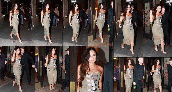 - -• 28.09.17- : Demi Lovato était vue en dehors de la soirée afin promouvoir la sortie de « Tell Me You Love Me  » à N-Y !    Dans la même soirée, la chanteuse est vue sortant d'un starbucks dans le quartier de Soho. Demi Lovato est vraiment sublime dans cette robe, un top. -
