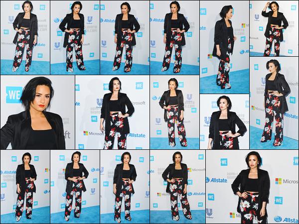 . 07.04.16 — Demetria Lovato était présente à l'événement « We Day » se situant dans la ville de Inglewood, en CA!  Miss Demi est là pour but de récolter des fonds afin de trouver des solutions durables aux problèmes que rencontrent les communautés.  .