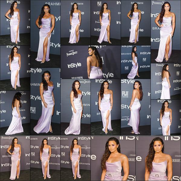 - -• 23.10.17- : Demi Lovato s'est rendu sur les tapis de l'événement des « InStyle Awards » se situant dans  Los Angeles !    Lors de la cérémonie, Demi a passé un discours et a été vue au coté de Selena Gomez. Elle est sublime dans cette robe, j'aime beaucoup son maquillage.  -