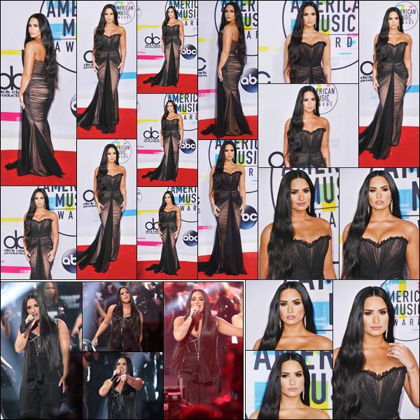 - -• 19.11.17- : Demi Lovato posait sur les tapis de la grande cérémonie des « American Music Awards » à Los Angeles !    Miss D.Lovato est magnifique dans cette robe, c'est un vrai coup c½ur. Ses longs cheveux sont sublime et son make-up est canon. Qu'en penses-tu ?  -