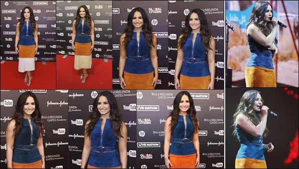- - 06.07.2017- : Demi Lovato s'est rendu sur les tapis du festival « Global Citizen » dans la ville Hamburg, Allemagne !    Miss Lovato était aussi sur scène pour y chanter ses chansons, par contre je n'aime pas sa robe, un bof. Peu de photo pour cette news, c'est dommage. -