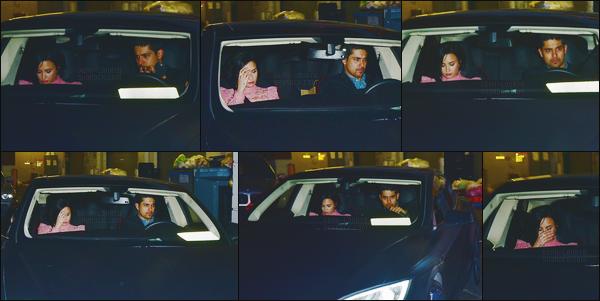 - - 14.02.2016- : Dans la soirée, Demi Lovato a été photographiée partant du restaurant « Mastro's Steakhouse  » ─ CA !    Notre chanteuse était en compagnie de son copain Wilmer Walderrama. Peu de photos sont disponible mais on peut voir que Demetria est superbe.  -