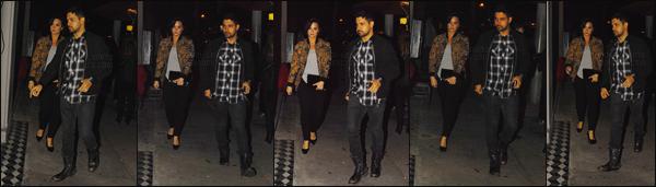 -  05.03.16 —  Demi Lovato et Wilmer Walderrama arrivant au restaurant Craig, à West Hollywood ! .