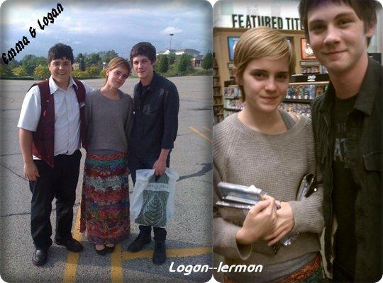 15 mai, Logan a été prit en photo en compagnie de Emma Watson sa co-star dans ''The Perks'' ils étaient dans une librairie !