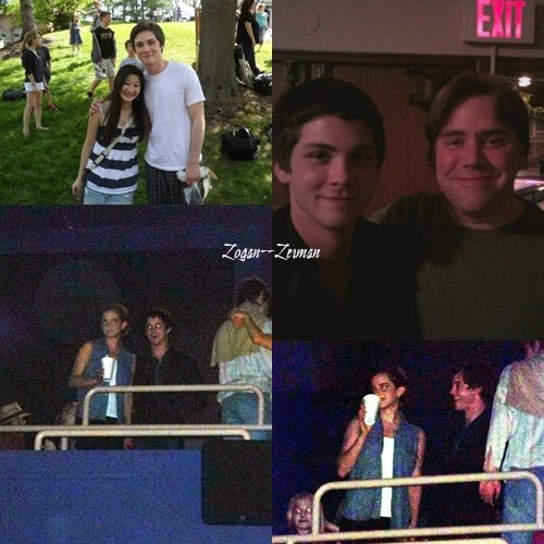 Photo de Logan avec une fan et l'auteur de livre ! Deux Photos de Logan et de Emma Watson sur le tournage le 22 Mai
