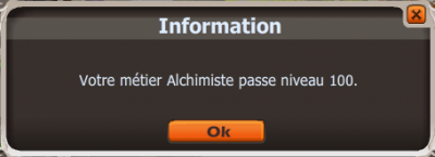 Alchimiste 100 !