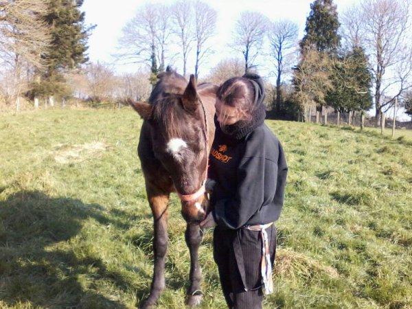 Ma jumelle et son cheval