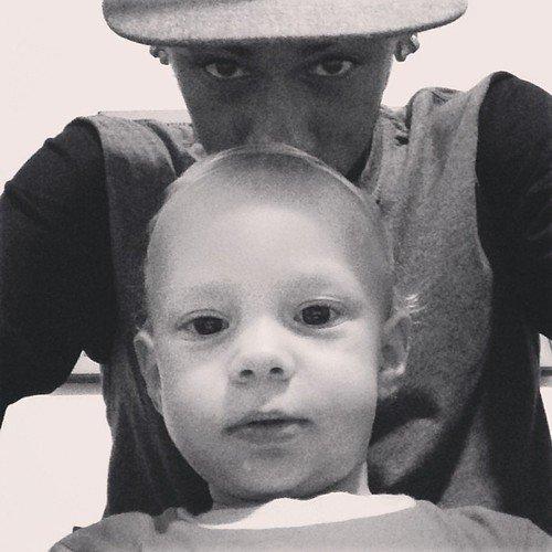 Neymar et son fils : Davi luccas <333