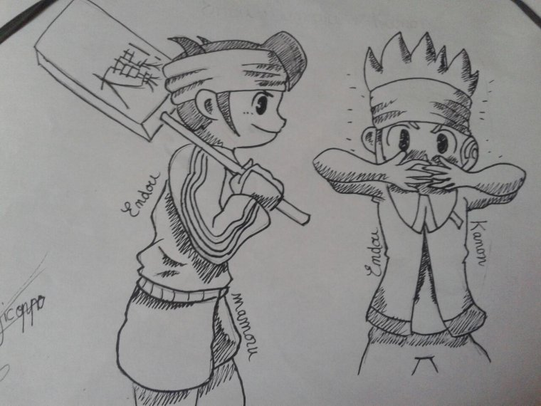 Dessin num 11 : Endou Mamoru et Endou Kanon ^^
