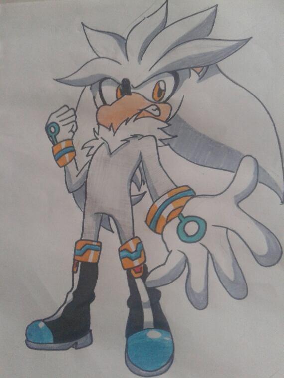 Dessin num 12 : Silver the Hedgehog